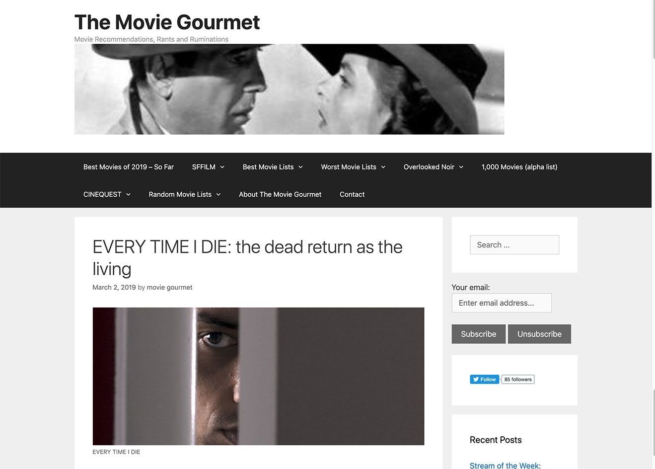Every Time I Die The Movie Gourmet